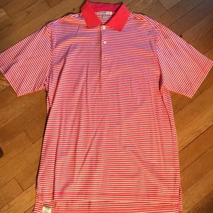 2b721132f Peter Millar Shirts - Peter Millar orange and white stripper polo